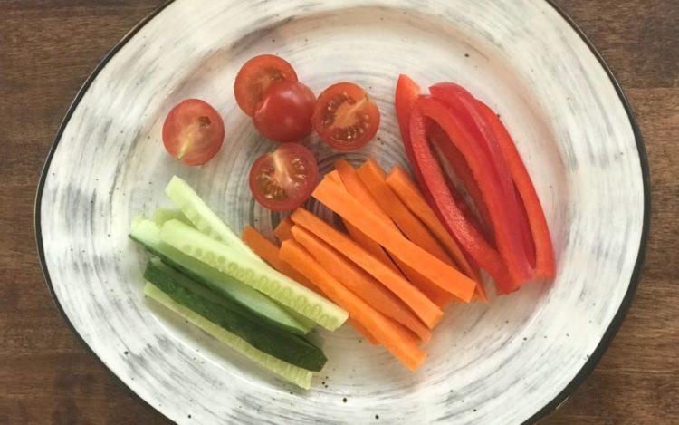 Детская овощная тарелка